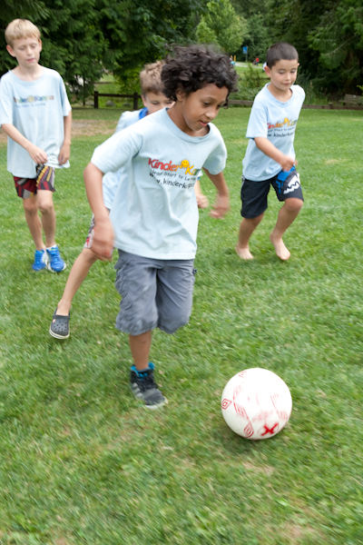 Summer Camp fun: playing soccer at Rocky Point